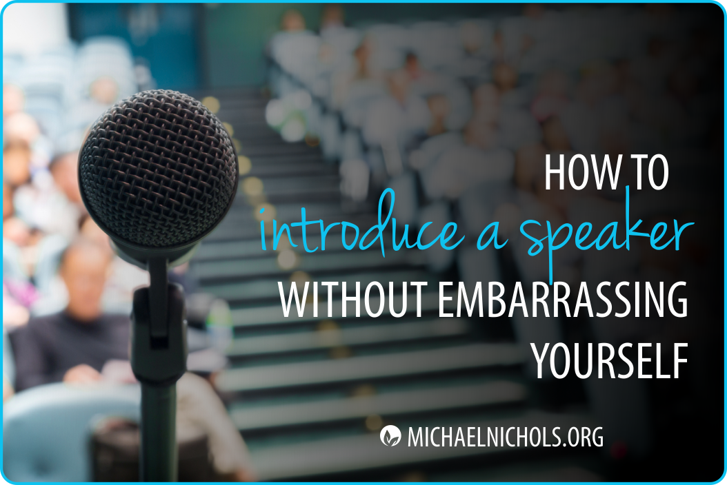 introduction of a speaker Here is how to make a memorable guest speaker introduction.